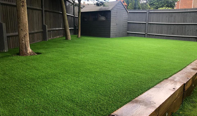 Completed lawn project Rainham