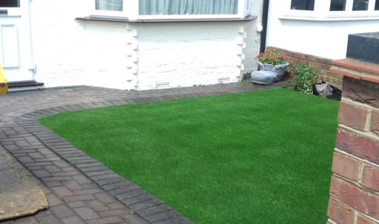 Grass laid front garden