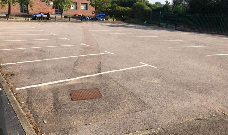 Existing school car park
