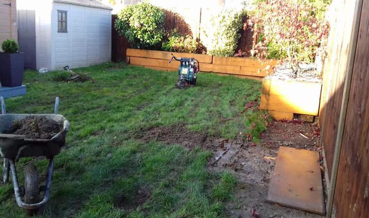 Muddy lawn Sidcup