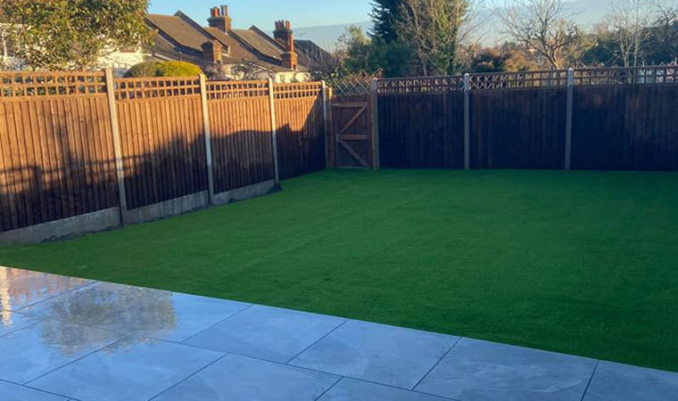 Lawn finally completed