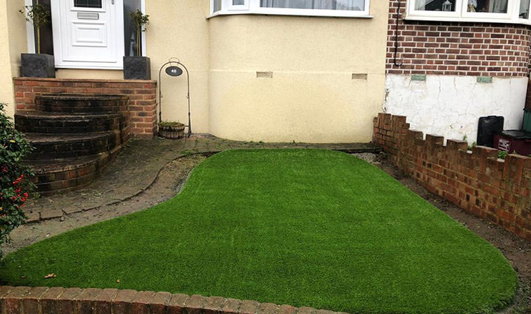 Small garden lawn completed