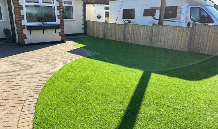 Rectory artificial grass fitted Detling