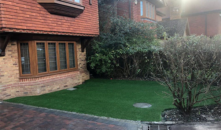 Completed front garden lawn Chislehurst