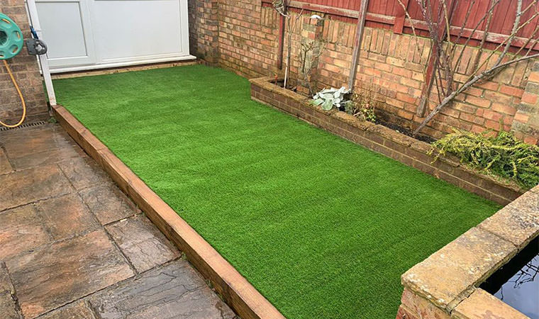 Decking replaced with artificial grass