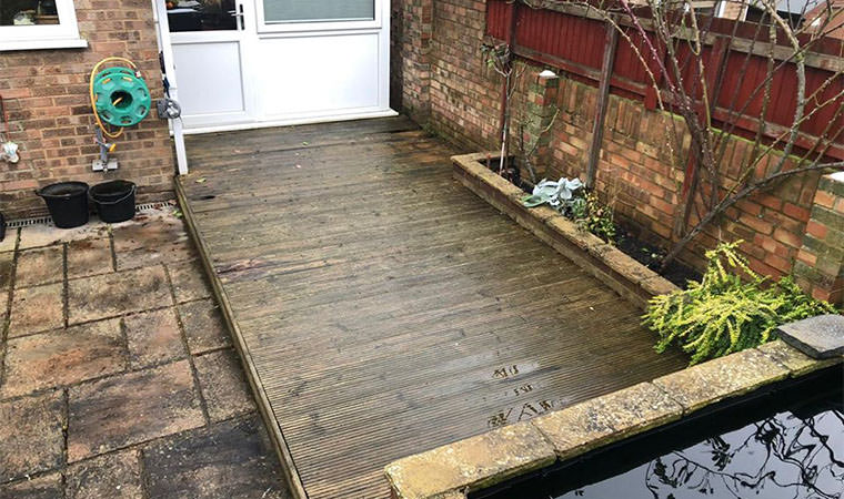 Existing decking Rochester