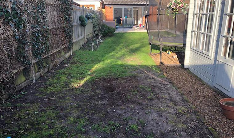 Muddy lawn West Wickham