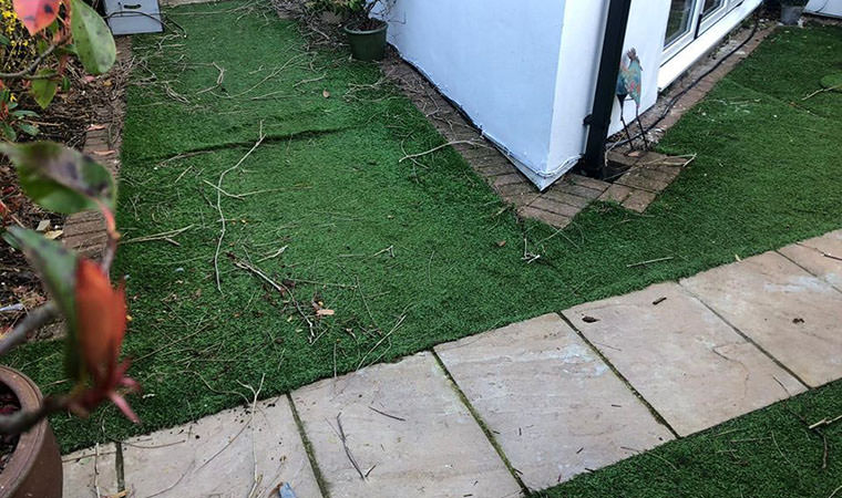Previously installed lawn
