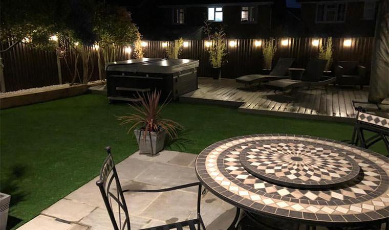 Northfleet garden with artificial grass installed