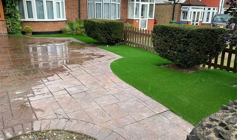 Completed front garden area Sidcup