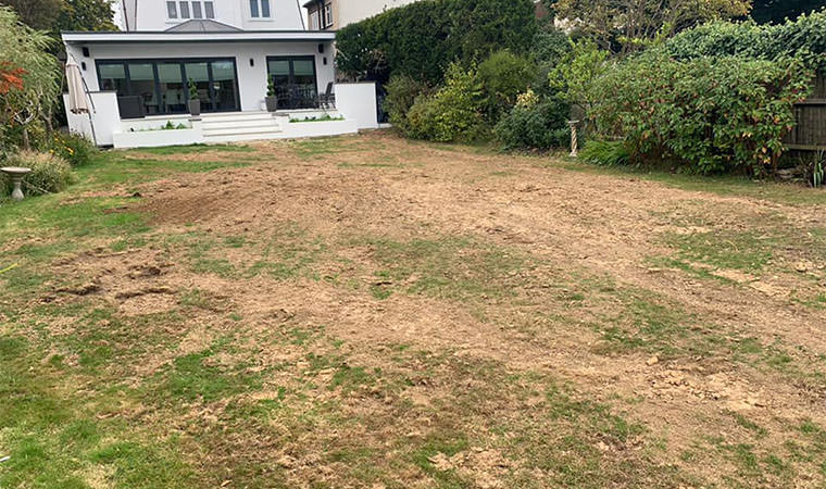 Poorly draining lawn West Wickham