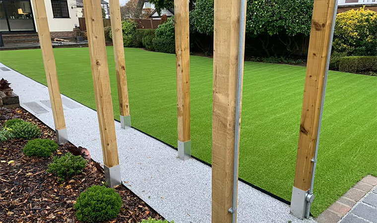 West Wickham garden fitted with artificial grass