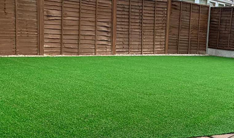Crayford garden fitted with artificial grass