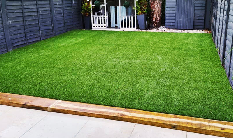Lawn patio blended together