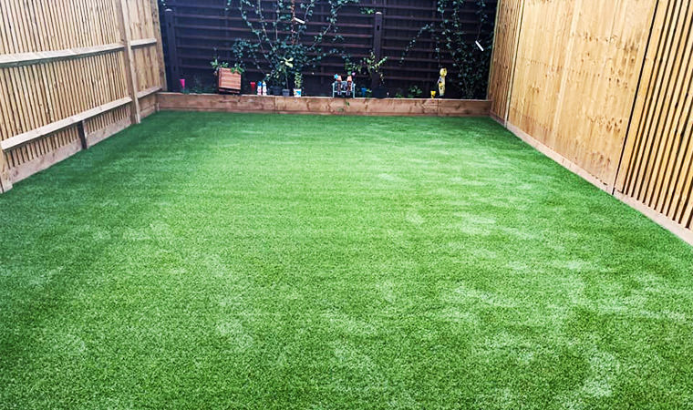 Converted new build lawn